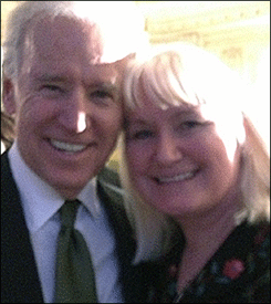 Vice President Joe Biden and Megan Smolenyak