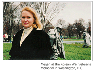 Megan at the Korean War Veterans Memorial