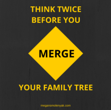 Think Twice Before You Merge Your Family Tree
