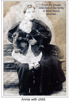 Annie Moore with child