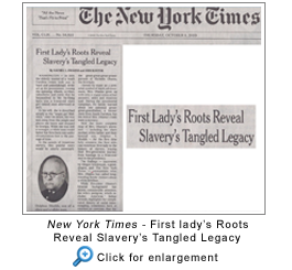 New York Times - First Lady's Roots